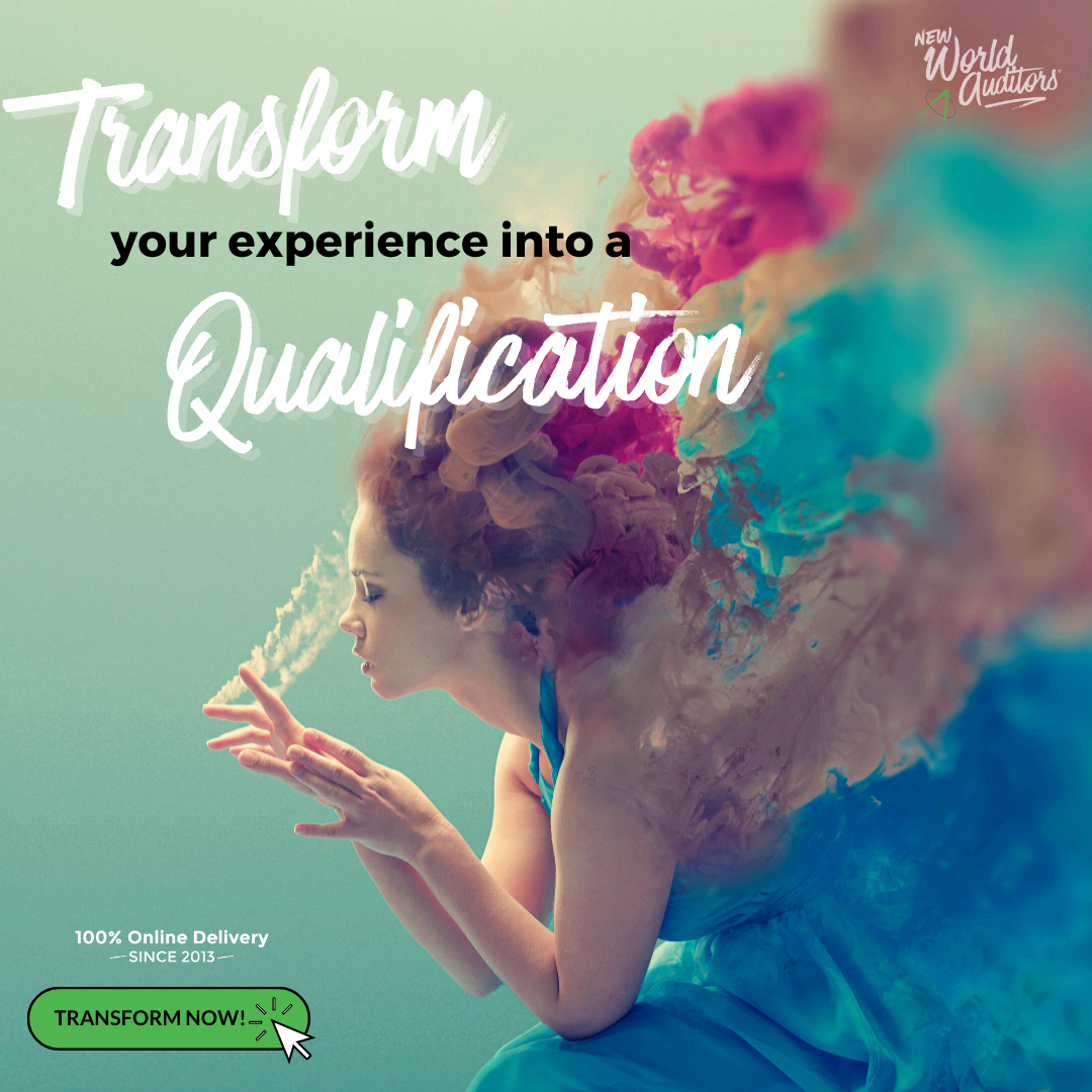Transform your experience into a qualification